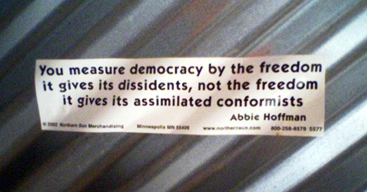 Abbie Hoffman Bumper Sticker