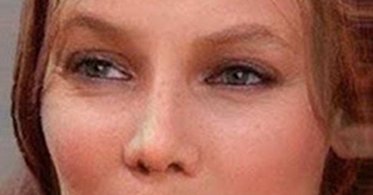 Joni Mitchell - Tyra Banks morph