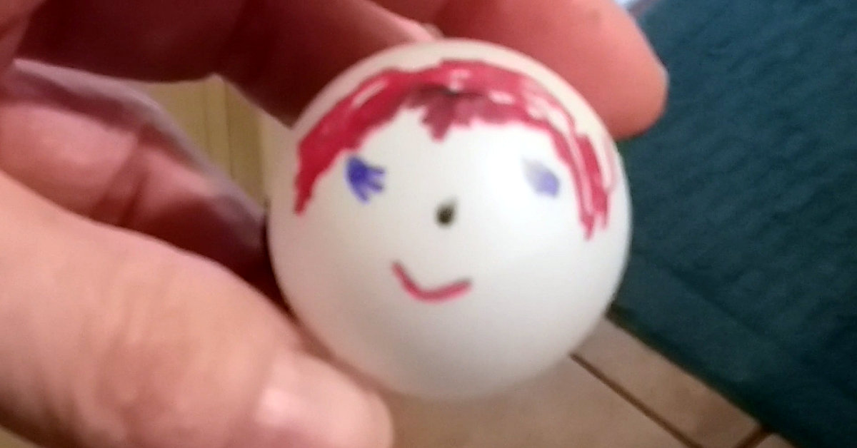 Ping Pong Ball Self Portrait