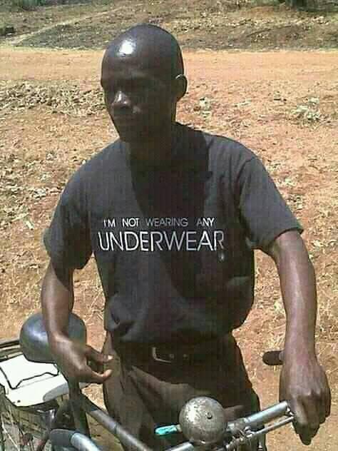 Not wearing underwear