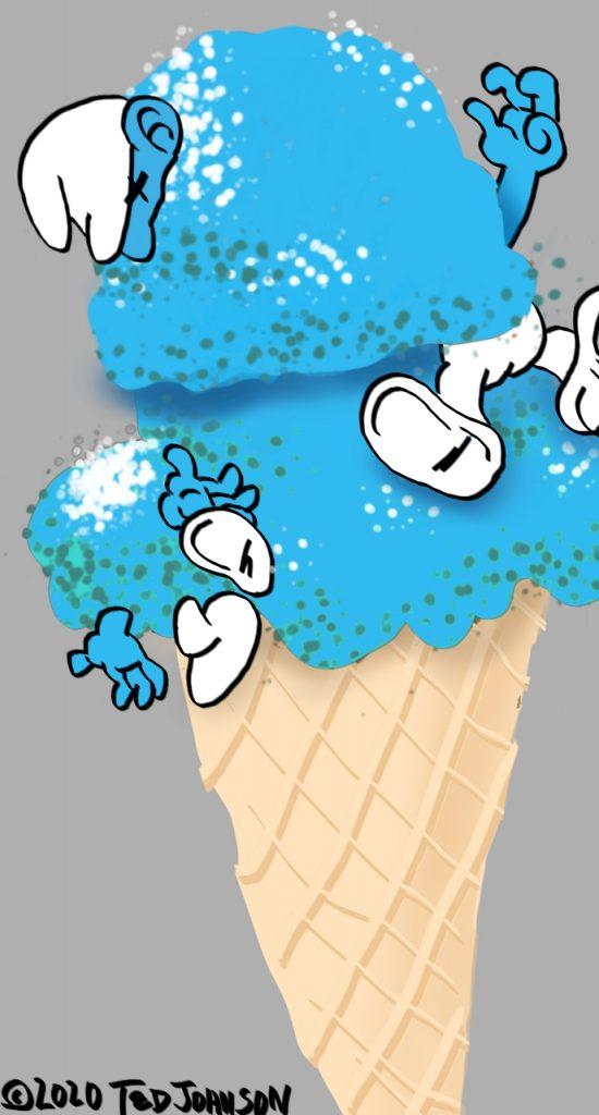 Smurfs Ice Cream Cone