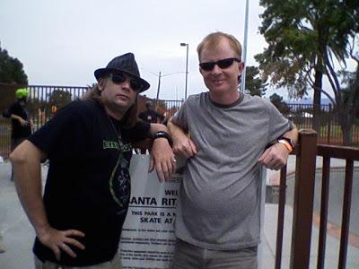 Bam Bam and me at the Santa Rita Skatepark in Tucson.