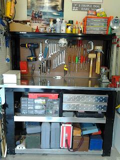 Organized work bench.