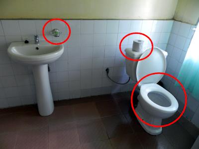Bathroom, Les Orchidées, Andasibe, Madagascar
